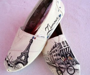 paris, shoes, and toms image