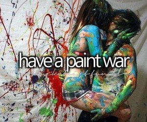 couple, paint war, and bucket list image