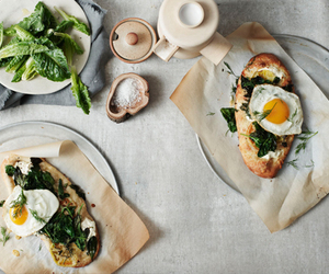 food, breakfast, and egg image