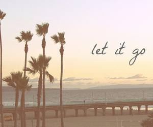 beach, let it go, and summer image