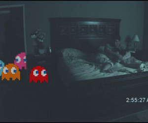 pacman, paranormal activity, and funny image