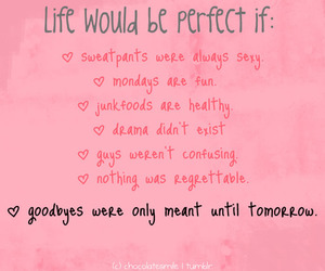 text, life, and pink image
