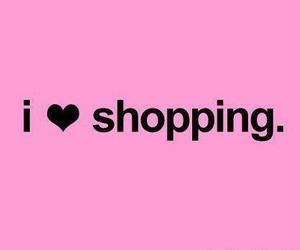 shopping, pink, and text image