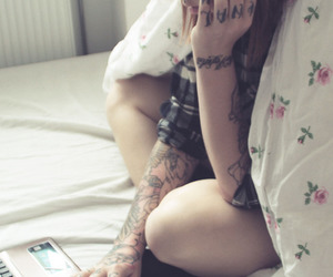 girl, pretty, and inked image