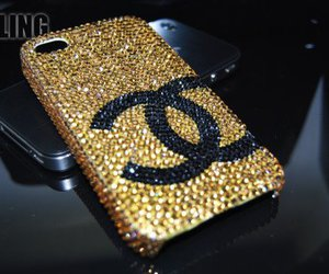 chanel, iphone, and gold image