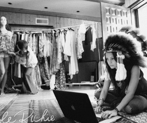 nicole richie, indian, and laptop image