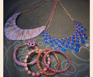 accessories, necklace, and pink image