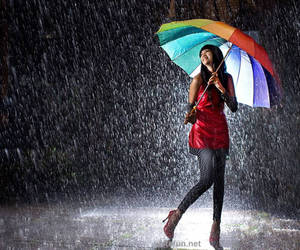 colors, umbrella, and girl image
