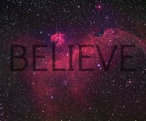 believe, quote, and stars image