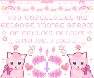 kawaii, cat, and pink image