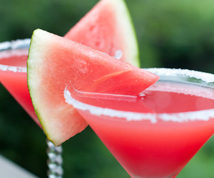 cocktail, pink, and watermelon image