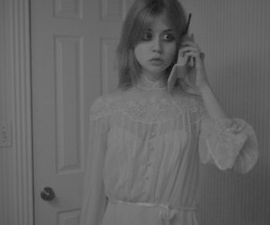 allison harvard, black and white, and eyes image