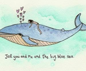 sea, love, and blue image