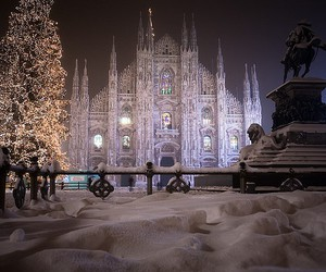snow, milan, and christmas image