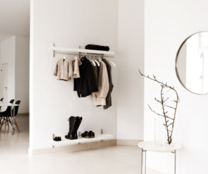 white, room, and clothes image