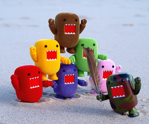 cute, domo, and colorful image