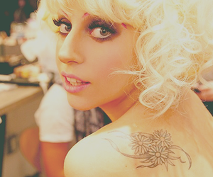 Lady gaga and tattoo image