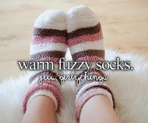 fuzzy, socks, and warm image