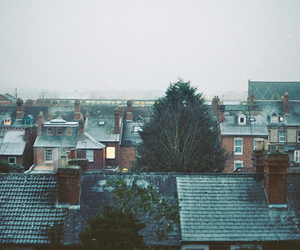 house, winter, and photography image