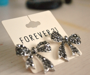 forever 21, earrings, and bow image