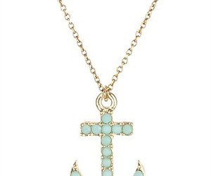 anchor, blue, and jewellery image