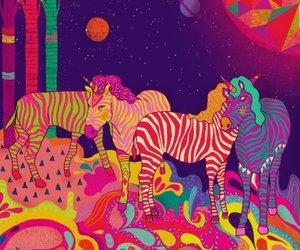 unicorn, zebra, and animal image