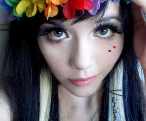 eyes and flowers image