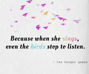 the hunger games, birds, and sing image