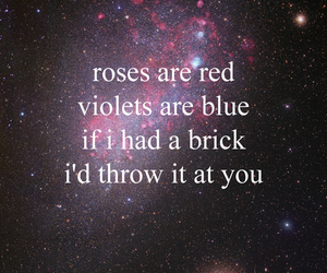 love, roses, and galaxy image