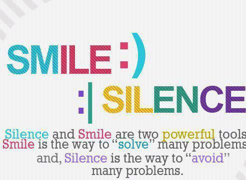 Life Quotes Quote Sayings Saying Smile Silence Cute