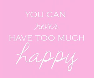 happy, quotes, and pink image