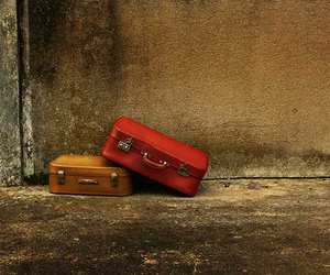 red and suitcase image