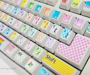 keyboard, cute, and colorful image