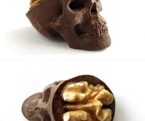chocolate, skull, and brain image