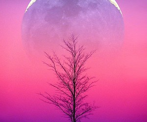 art, moon, and winter image