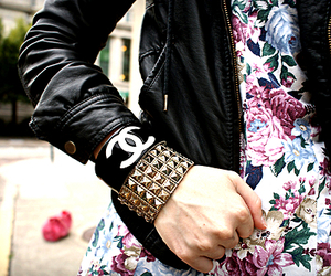chanel, fashion, and floral image