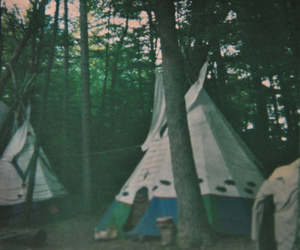 indian and tepee image
