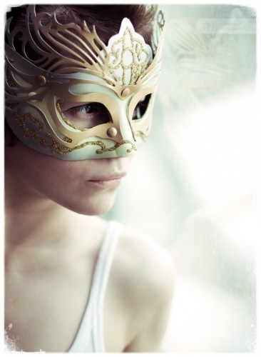 mask and girl image