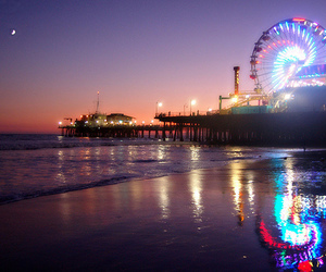 beach, photography, and night image