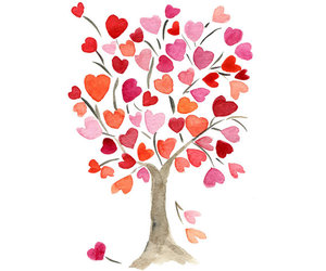 drawing, love, and heart tree image