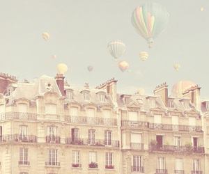 balloons, vintage, and pastel image