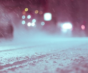 snow, winter, and bokeh image