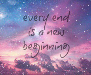 quotes, end, and galaxy image