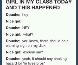 funny, lol, and douche image