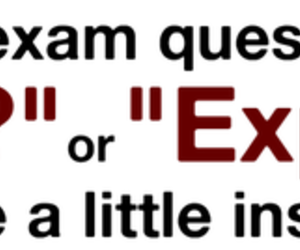 exam, why, and explain image
