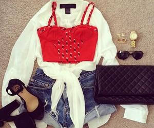 fashion, bag, and look image