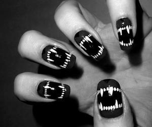 nails, vampire, and black image
