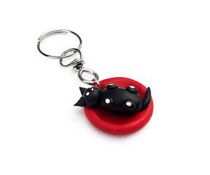 baby cat, cute cat, and key chain image