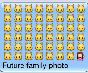 cat, family, and girl image