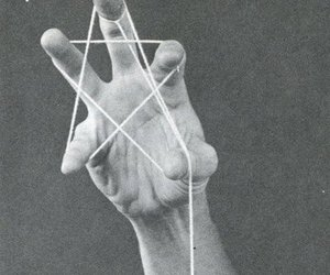 star, hand, and black and white image
